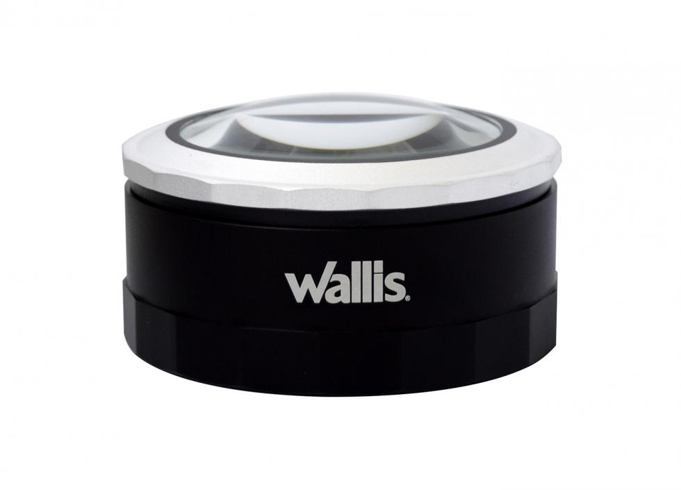 Lupa de 3x y 5x, con zoom 5x y 7x, de 9.2 cm de diámetro, con luz LED, negro